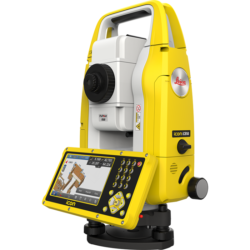 Leica iCON iCB50 Manual Construction Total Station Go digital Increase productivity (Yellow Color )
