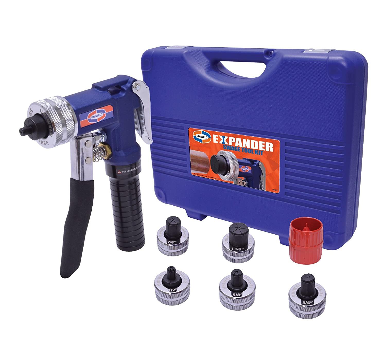 Uniweld UEK1 Expander Swage Tool Kit (3/8,1/2,5/8,3/4,7/8,1-1/8) and Deburring Tool