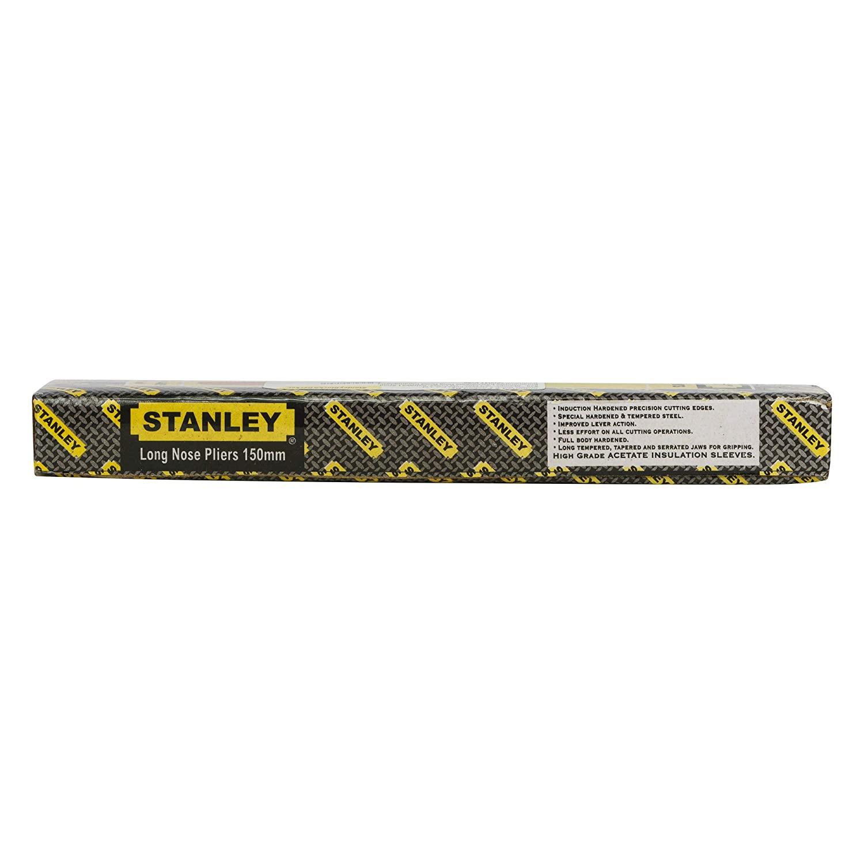STANLEY 70-462 6'' Sturdy Steel Long Nose Plier Single Color Sleeve